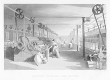 Cotton Carding Machinery. Date: 1835