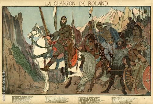 Illustration  La Chanson de Roland. Date: 778 © Archivist