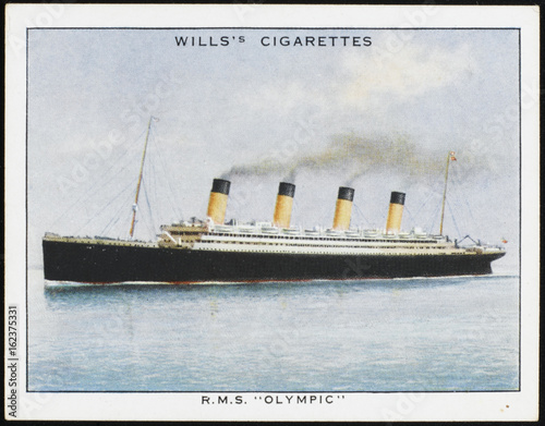 Photo  Olympic' Steamship. Date: circa 1930