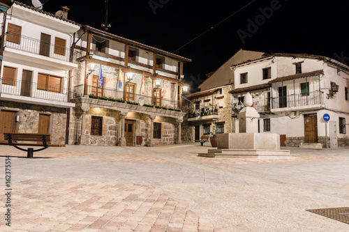 City Hall of Piedralaves, Spain at night