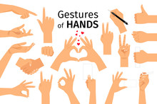 Colored Hand Gesture Set