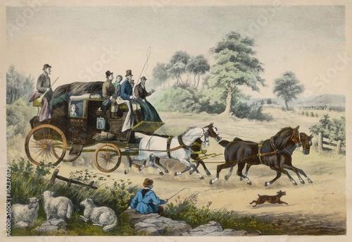 Fotografia, Obraz Stagecoach - Shepherd Boy. Date: circa 1840
