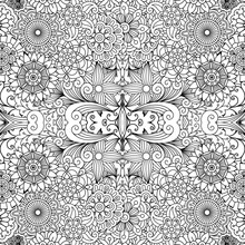 Decorative Pattern With Flower...