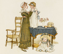Mother And Daughters. Date: 1883