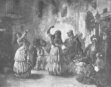 Gipsy Dancers. Date: 1883