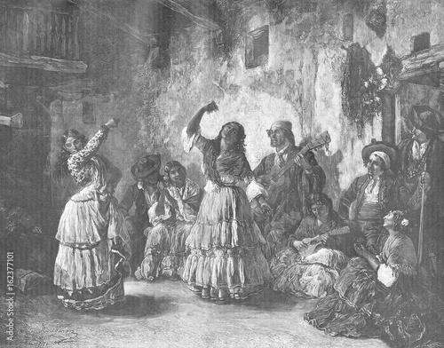 Gipsy Dancers. Date: 1883 Wallpaper Mural