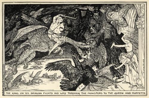 Photo  Myth - Mythology - King on Dragon