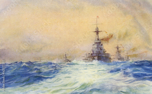 Iron Duke Warship. Date: launched 1912 Wallpaper Mural