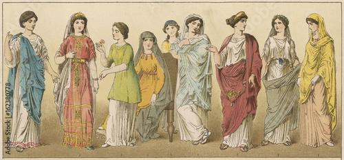 Ancient Roman Women. Date: circa 100 BC Wallpaper Mural