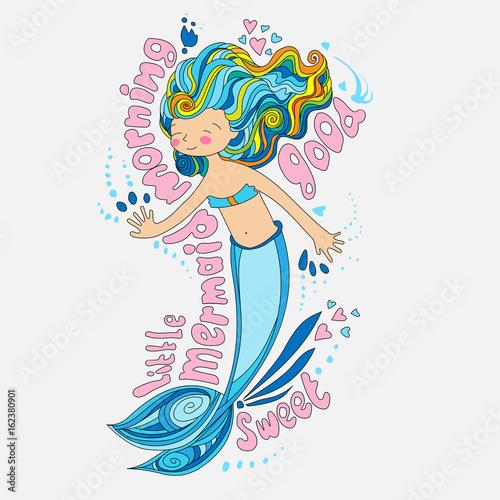 Little maimaid illustration Poster