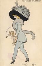 Girl In Trousers 1911. Date: 1911