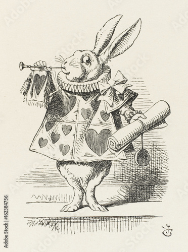 Photo Alice - Rabbit as Herald. Date: 1865