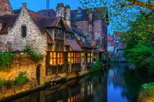 Medieval Houses Over Canal In ...