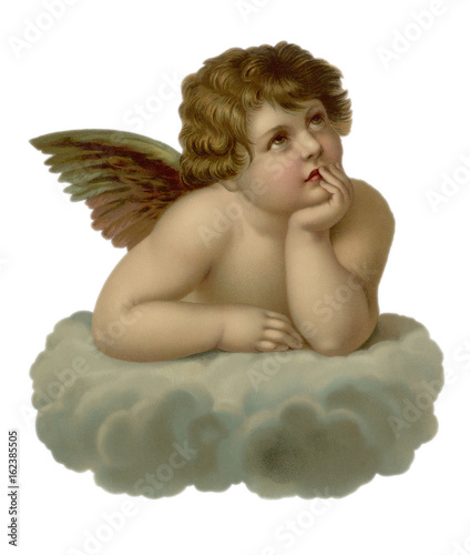 Stampa su Tela Cherub Looking to Right. Date: 19th century