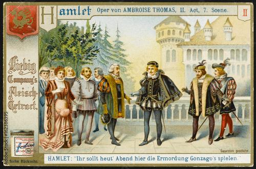 Fotografie, Obraz  Thomas - Hamlet - Liebig. Date: 1868