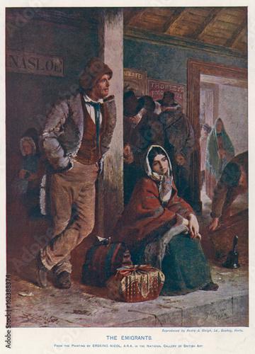 Photo Irish Emigrants - 1864. Date: 1864