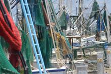 Several Shrimp Boat Nets, Rigg...