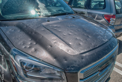 Buying A Car With Hail Damage >> Hail Damage To Car Buy This Stock Photo And Explore