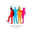 Business people as a silhouette. Colorful concept. Vector