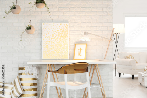 Atelier with living room space Wallpaper Mural