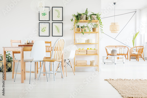 Foto auf AluDibond Gezeichnet Straßenkaffee Dining room decor