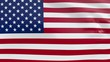 High quality looped animation of a patriotic flag of United States of america in the wind. You can easily integrate it into your own compositions. Ideal for sport events