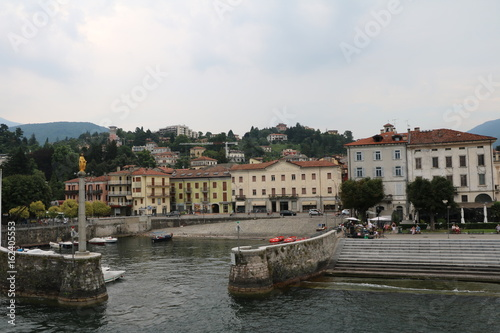Fotografie, Obraz  Waterfront of Luino at Lake Maggiore, Varese