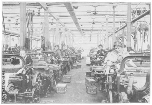 Fototapeta Factories - Britain. Date: 1897