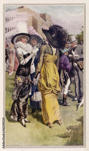 Cup Day at Ascot - 1914. Date: 1914 Canvas Print