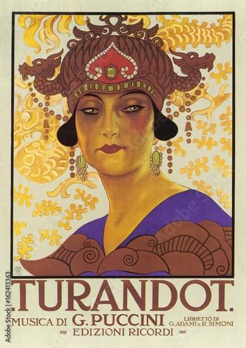 Fotografie, Obraz Puccini - Turandot. Date: 1926