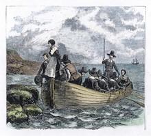 Pilgrim Fathers Arrive In Amer...