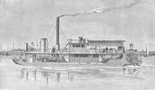 Nile Paddle Steamer. Date: 1886