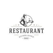 Restaurant Logo Template Vecto...