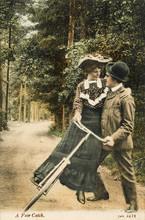 A Fair Catch. Date: Circa 1905