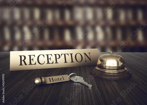 Plakat Recepcja hotelowa