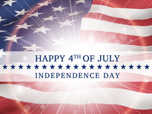 Happy 4th Of July, Independence Day - Poster With The Flag Of The United States Of America