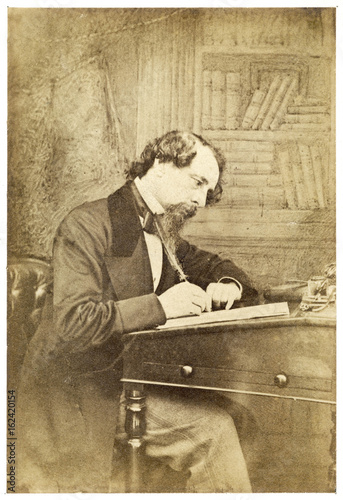 Photo Charles Dickens. Date: 1812 - 1870