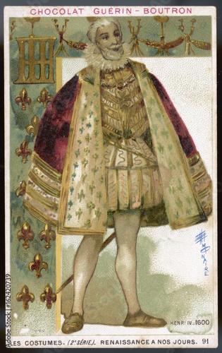 Fotografie, Obraz  Costume - Henri IV - 1600. Date: 1600