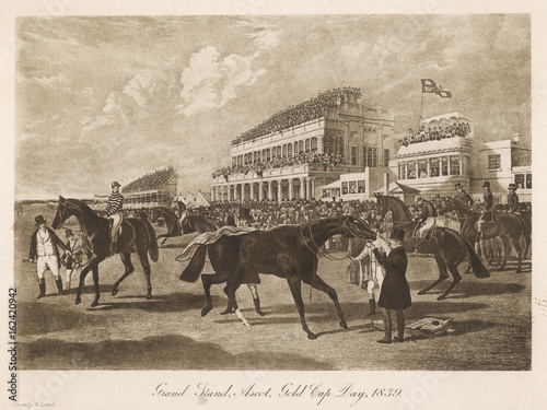 Horse Racing - Ascot. Date: 1839 Wallpaper Mural