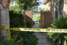 DEAD BODY AT A CRIME SCENE