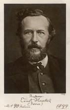 Ernst Haeckel Age 40. Date: 18...