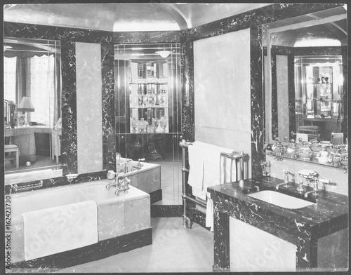 Art Deco Bathroom Date 1930s Stock Photo Adobe Stock
