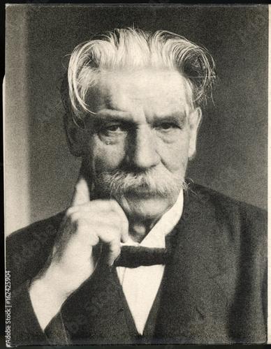 Schweitzer - Postcard. Date:  1875 - 1965 Canvas Print