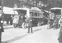 Paris Street Scene 1900. Date: 1900