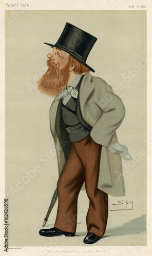 Holman Hunt - Vanity Fair. Date: 1827 - 1910 Canvas Print