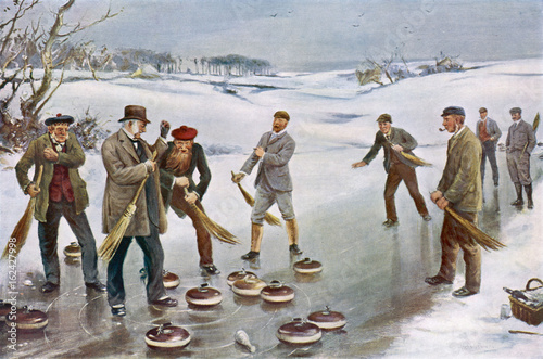 Scottish Curling 1912. Date: 1912