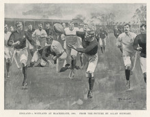 England V Scotland 1901. Date: 1901