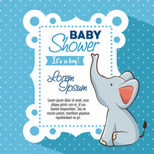 Baby Shower Boy Invitation Car...