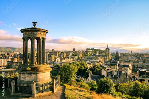 Zdjęcie XXL Edynburg linia horyzontu widzieć od Calton wzgórza, Szkocja