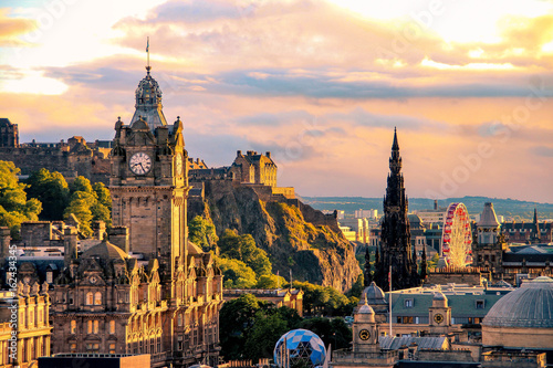 Fotografie, Tablou Edinburgh skyline, Scotland
